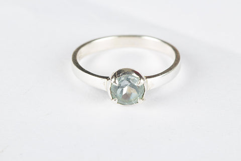Wonderful Blue Topaz Gemstone Silver Ring