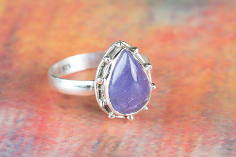 Wonderful Tanznanite Gemstone Sterling Silver Ring