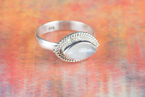 Amazing Rainbow Moonstone Ring, 925 Sterling Silver, Bridal Gift, Girlfriend Gift, Exclusive Ring, Unique Design, Gift For Her