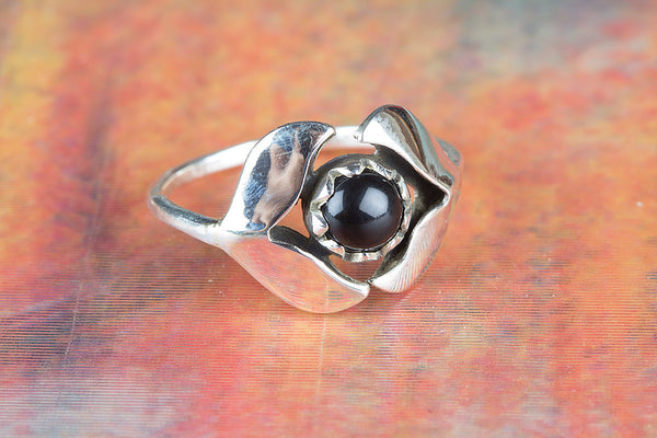 Black Onyx Ring 925 Silver Petite Ring Alternative Ring Casual Ring Alternative Ring Elegant Ring Classic Ring Bohemian Ring Daily Wear Ring Latest Ring Purpose Ring Motivational Ring Engagement Ring Gift