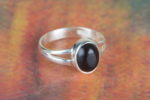 Black Onyx Ring 925 Silver Dainty Ring Casual Ring Unique Elegant Ring Classic Ring Daily Wear Ring Bohemian Ring Inspirational Ring Chunky Ring Wedding Ring Gift Her