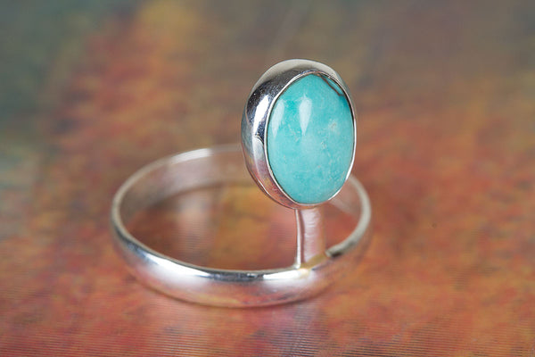Natural Turquoise Gemstone Sterling Silver Ring