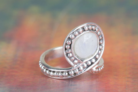 Amazing Rainbow Moonstone Ring, 925 Sterling Silver Ring, Gemstone Jewelry, Inspirational Gift, Gift For Her
