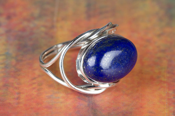 Wonderful Rainbow Gemstone Sterling Silver Ring
