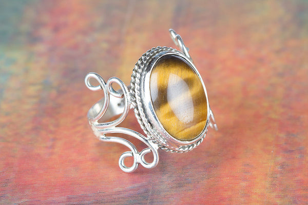 Tiger Eye Ring, 925 Silver, Unique Stylish Ring, Casual Ring, Antique Design Ring, Victorian Ring, Rare Ring, Artisan Ring, Classic Ring, Statement Ring, Natural Gemstone Ring, Delicate Ring, Exclsuive Ring, Vintage Ring, Wedding Ring, Gift Her