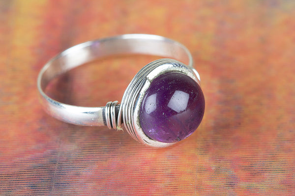 Wonderful Amethyst Gemstone Silver Ring