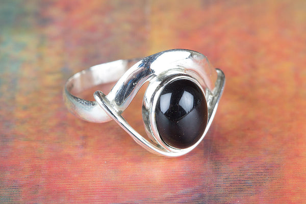Black Onyx Ring 925 Silver Unique Stylish Ring Traditional Ring Latest Design Ring Modern Design Ring Pretty Love Ring Attract Ring Bohemian Ring Everyday Ring Statement Ring Engagement Ring Gift Her