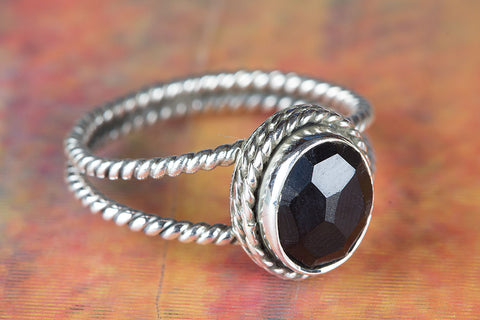 Black Onyx Ring 925 Silver Antique Gypsy Ring Modern Ring Friendship Ring Black Ring Chunky Ring Casual Ring Statement Ring Engagement Ring Healing Ring Charm Ring Gift Her