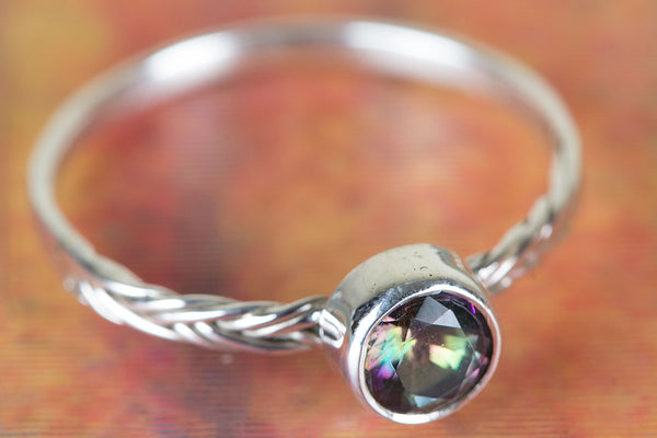 Wonderful Mystic Topaz Gemstone Sterling Silver Ring