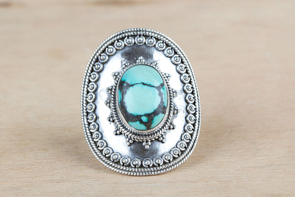 Turquoise Ring 925 silver Attractive Ring Eye Catch Ring Trendy Ring Natural Gemstone Ring Charm Ring Bride Ring Special Occasion Ring Relationship Ring Gift Her.