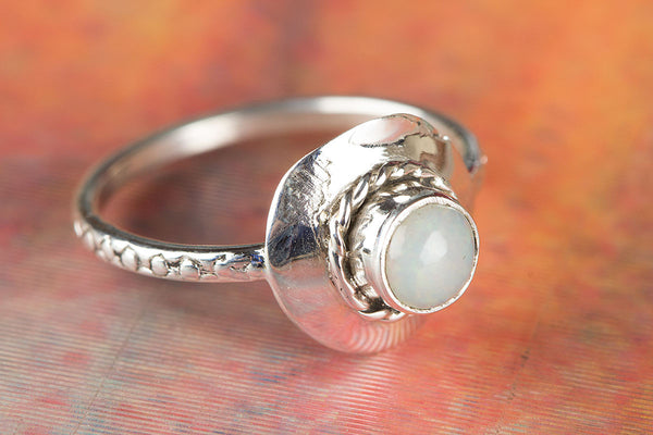Beautiful Sterling Silver Ethopian Opal Gemstone Ring,