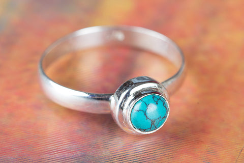 Awesome Turquoise Gemstone Sterling Silver Ring Handmade Ring, Statement Ring, Antique Ring, Eye Catch Ring, Attract Ring, Round shape Ring, Gypsy ring Engagement Ring, Gift Her