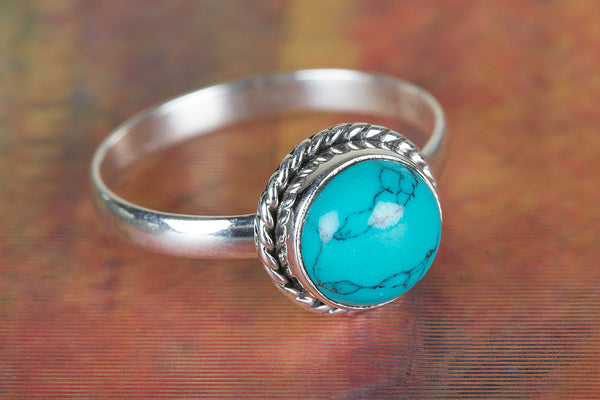 Turquoise Ring 925 Silver Elegant Ring Petite Ring Exclusive Ring Classic Design Ring Rare Ring Party Wear Ring Inspirational Ring Bohemian Ring Delicate Attractive Ring Engagement Ring Gift Her.