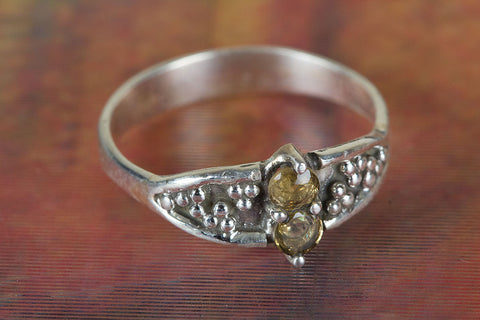 Amazing Citrine Gemstone Sterling Silver Ring