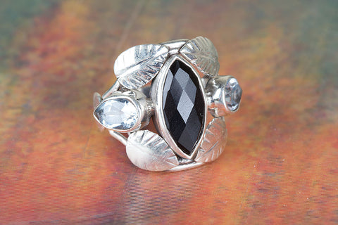 Black Onyx Ring 925 Silver Dainty Ring Alternative Ring Bohemian Ring Delicate Ring Exclusive Ring Bride Ring Rare Ring Daily Ring Delicate Ring Latest Ring Friendship Ring Gift