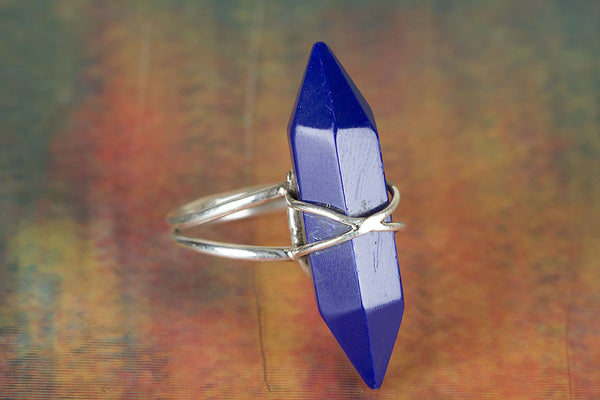 Wonderful Sapphire Gemstone Sterling Silver Ring