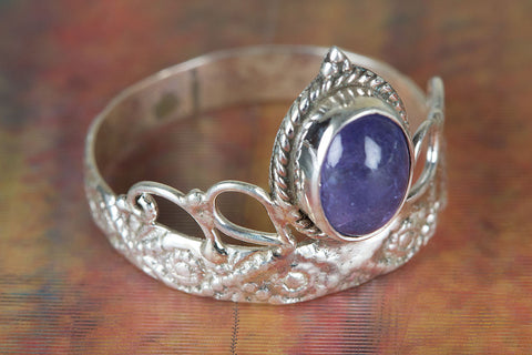 Wonderful Tanzanite Gemstone Sterling Silver Ring