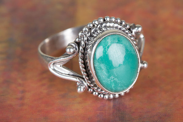Pure Sterling Silver Natural Turquoise Gemstone Ring