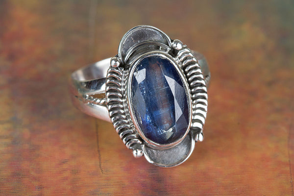 Kyanite Gemstone Sterling Silver Ring