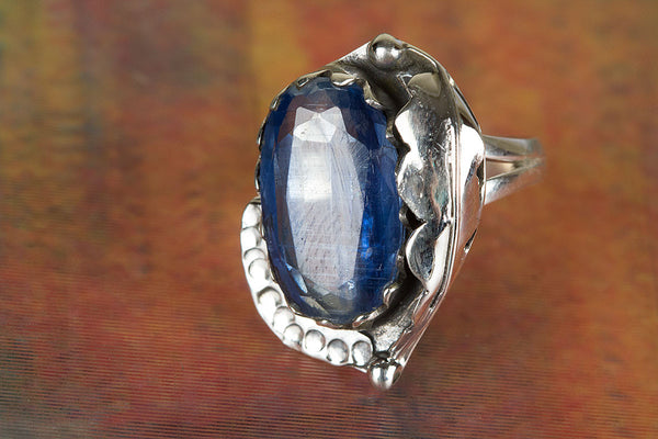 Pure Kyanite Gemstone Silver Ring