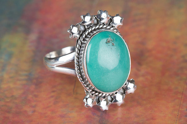 Wonderful Turquoise Gemstone Sterling Silver Ring