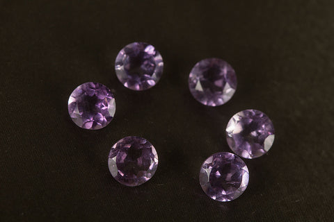 Round Shape Faceted Amethyst Gemstone, Natural Gemstone , 6 x 6 mm Gemstone, Purple Round 6 x 6 mm Gemstone, Jewelry Supplies, Gemstone Supplies