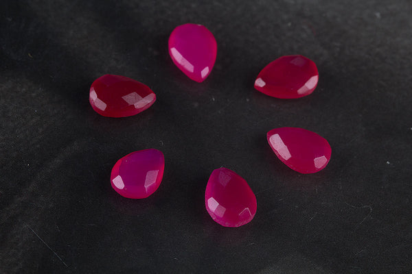 Pink Heart Shape 14 x 10 mm Gemstone, Heart Faceted Pink Chalcedony Gemstone, Natural Gemstone , 14 x 10 mm Gemstone, Jewelry Supplies, Gemstone Supplies