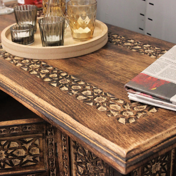 Coffee Table Moroccan Style Carving