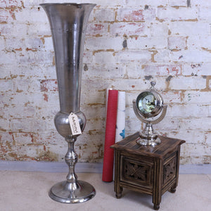 Chuhar Decorative Floor Vase Distressed Silver