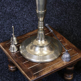 Anihar Gold Brass 5 Arm Candelabra Base