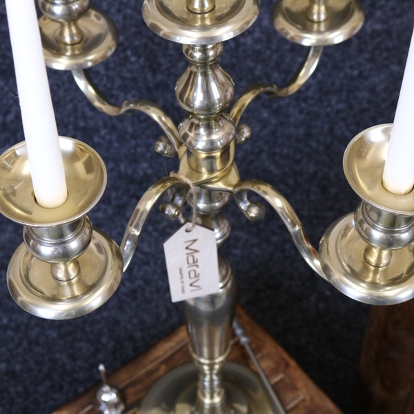 Anihar Gold Brass Candelabra Arms