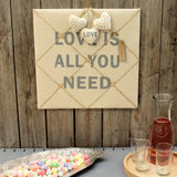 Slogan 40cm Fabric Memo Board