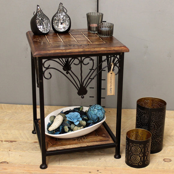 Anamalai Mango Wood Small Side Table