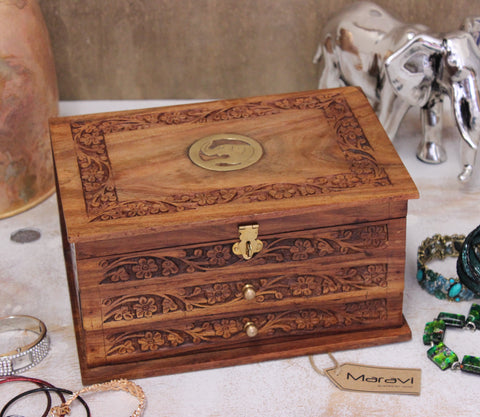 elephant handmade jewellery box