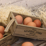 Set of 2 General Store Rustic Wooden Egg Crates