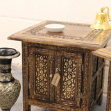 Side Tables Moroccan Style Carving