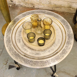 Girija Morroccan Round Tray Tables