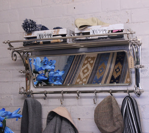 Lohit Train Rack with Mirror 7 Hook Coat Hanger