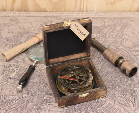 Gilbert and Sons Antique Compass with Box