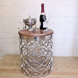 Jantar Metal Side Table with Wood Top