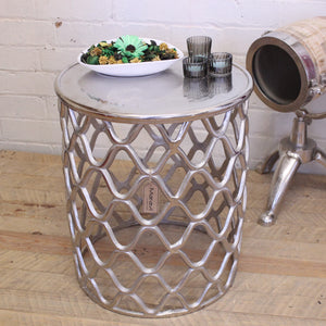 Shimla Rough Cast Metal Side Table