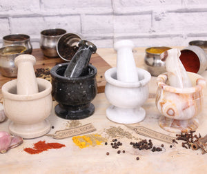 Doli Small Marble Mortar and Pestle 4 Colours