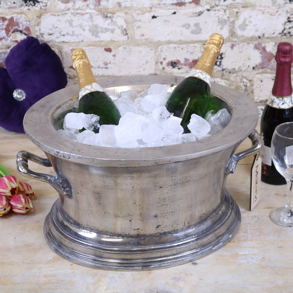 Nanda Devi Champagne Vintage Ice Bath Bucket Double Wall