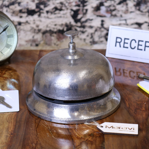 Tirsuli Large Vintage Reception Bell Silver