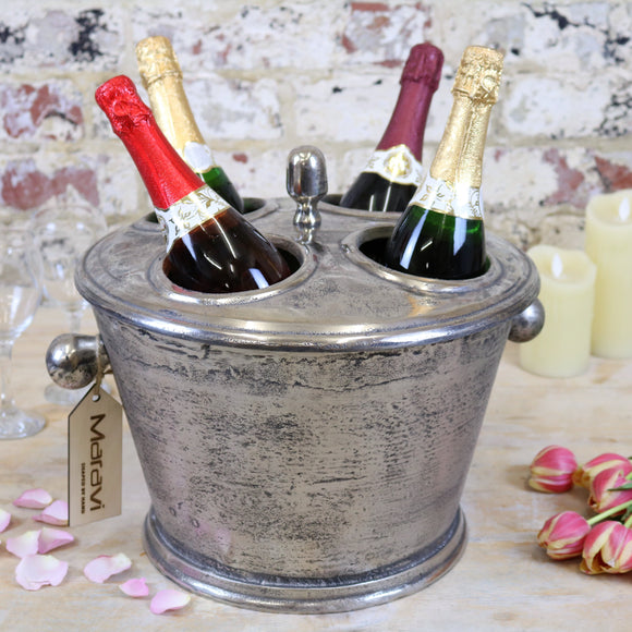 Vintage Large Champagne Ice Bucket with Bottles