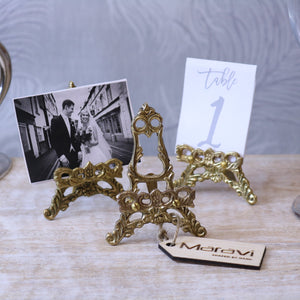 Saramati Set of 3 Mini Decorative Brass Display Easels