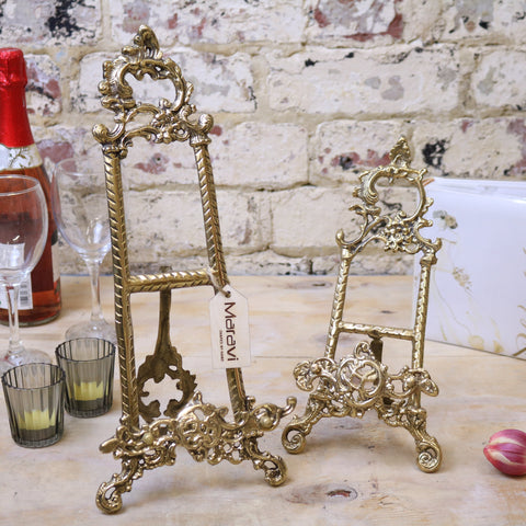 Sabarmati Decorative Display Brass Easels Set of 2
