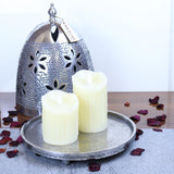 Tagar Vintage Metal Candle Plate with Dome