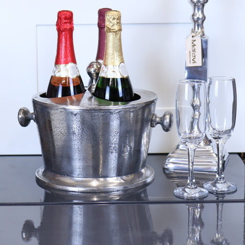 Chuhan Champagne Ice Bucket 3 Bottle Section with Lid