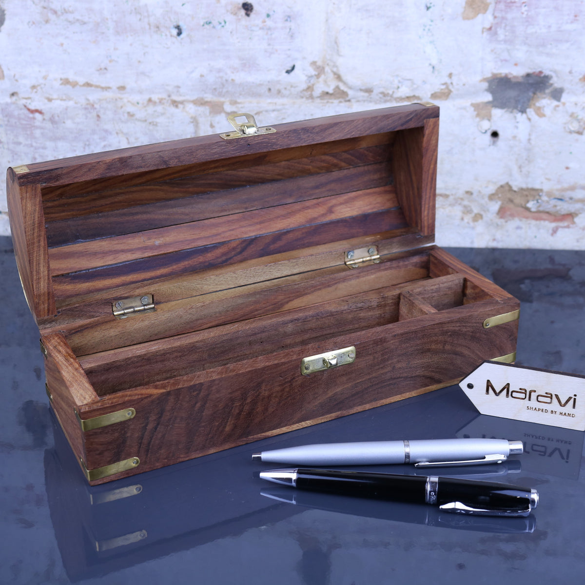 Dala Chest Style Pen Box with Secret Compartment